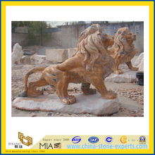 Granite Stone Animal Lion Carving for Garden(YQC)