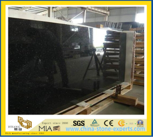 Black Galaxy Granite Countertop for Kitchen and Bathroom-YYM