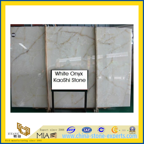 White Oynx Marble Slab for Flooring Decoration