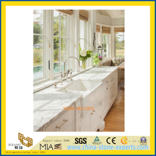 Cheap White Marble Stone Countertop for Kitchen / Hotel