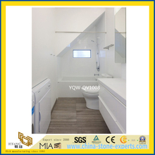 Beautiful White Quartz Vanity Top for Home & Hotel Bathroom