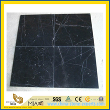 China Nero Marquina Marble Tile for Flooring Decoration