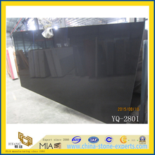 Artificial Marble Pure Black Quartz Stone Slabs (YYL)