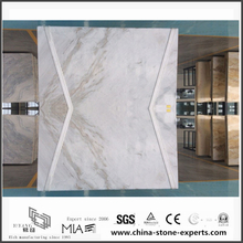 China Arabescato Venato White Marble Slabs for Bathroom Tiles (YQW-MSA061005)