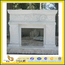 White Marble Statue Carving Fireplace for Decoration(YQG-F1007)