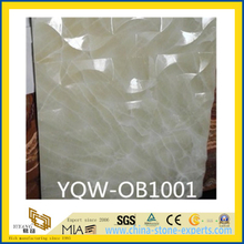 Polished White Onyx Stone Tile for Wall, Backsplash, Background
