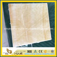 Translucent Honey Onyx Glass Composite Tile as Interior Wall Material