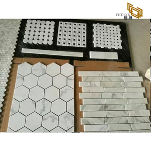 Sales White Mosaic Carrara White Marble Mosaic Tile Factory