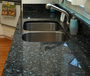 Fancy Blue Pearl Granite Kitchen Countertop Project -YEYANG STONE FACTORY