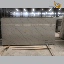 New style grey calacatta quartz stone tiles factory outlet - E1007