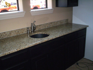Giallo Ornamental Countertop Project -YEYANG STONE FACTORY