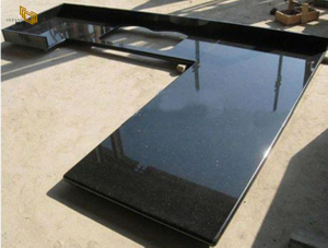 Black Galaxy Granite Kitchen Countertop -YEYANG STONE FACTORY