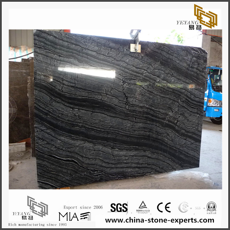 Antique Wood Grainy Marble for Background(YQN-082902)