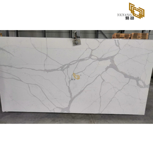 Polished White Clacatta Quartz Slabs Manufacturer(NT-401)
