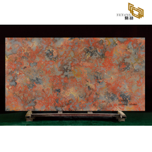 Red quartz slabs quartz countertops for bathrooms decoration project - A5009