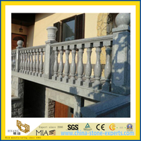 Outdoor White Granite Stone Railing Balustrade
