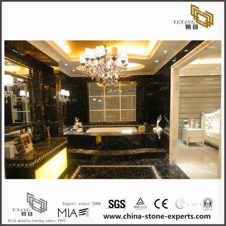 Luxury New Portoro Gold Marble Slabs for Bathroom Decoration(YQN-092805)