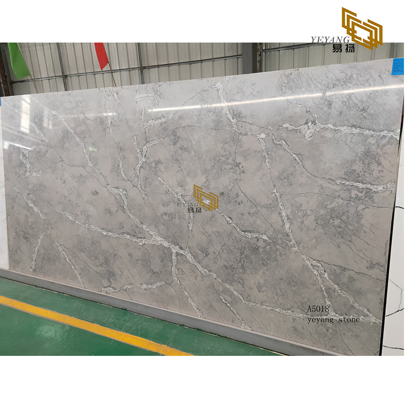 Special marble vein quartz slabs for countertops in bathroom and kitchen - A5018
