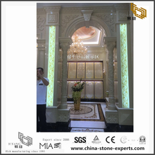 Green & Gold Marble Background for Hall Design (YQW-MB081503)