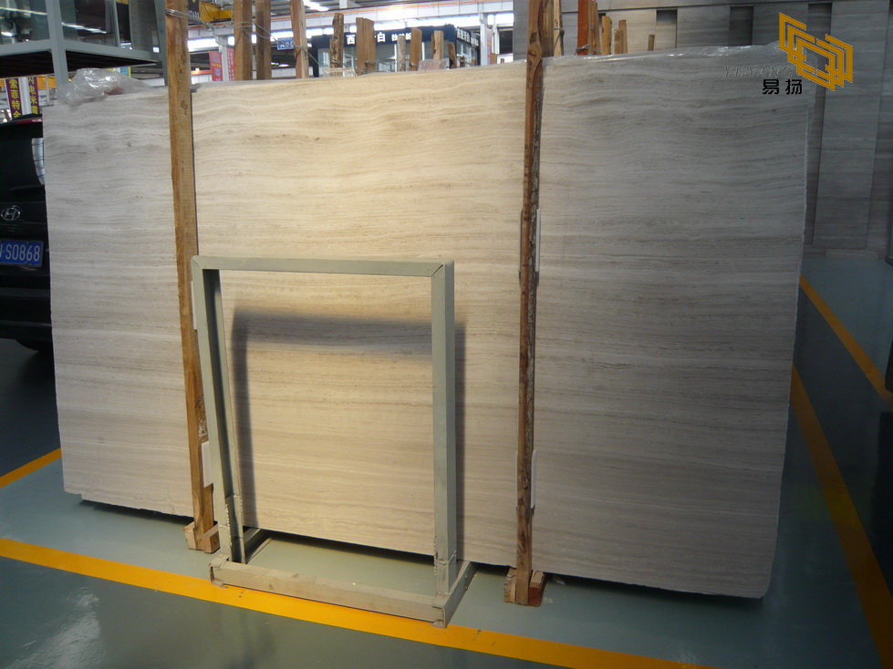 Factory price hot sale white wooden marble slabs
