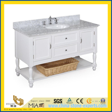 Natural Stone Polished Bathroom Spray White Marble Vanitytop (YQC)