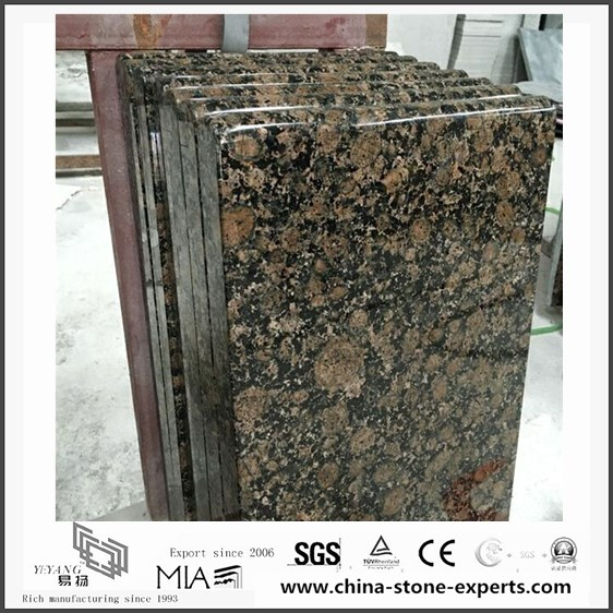 Natural Stone Polished Baltic Brown Granite Countertops for Kitchen (YQW-GC06051901)