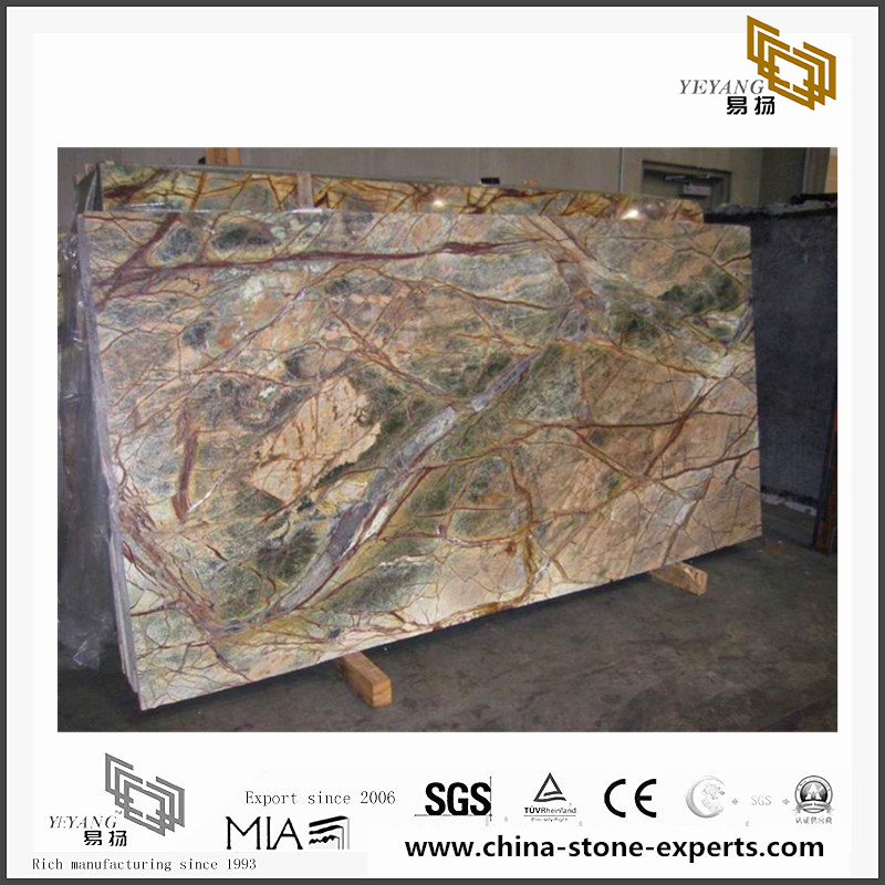 Rainforest Green Marble for Wall Backgrounds & Floor Tiles(YQN-090803)