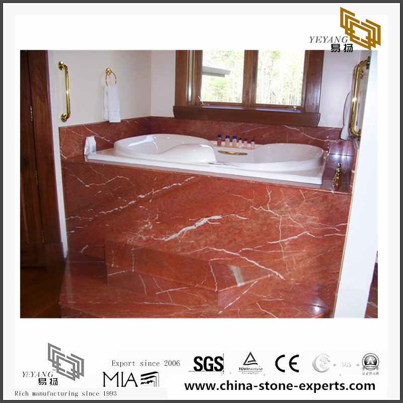 Beautiful Rojo Alicante Marble Tiles for Floor design(YQN-092310)