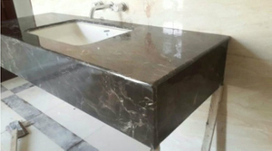 China Dark Emperador Marble Vanity Tops Project -YEYANG STONE FACTORY