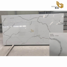 Polish white calacatta slabs for bathroom vanity with quartz countertop(E1001)