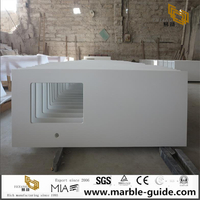 Super White Quartz Kitchen Countertop Vanity Top For Hotel