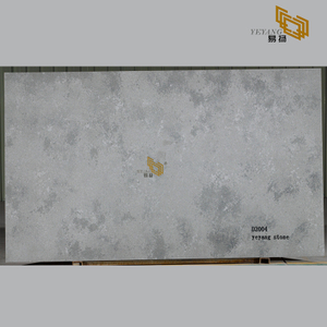 Concrete grey quartz slabs quartz bathroom countertops customized - D2004