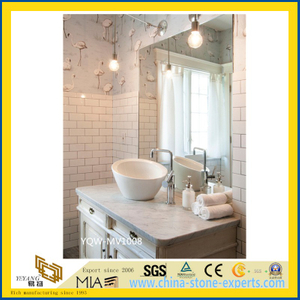 White Polished Marble Vanity Top for Bathroom with Cheap Price
