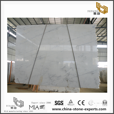 Luxury New Oriental White Marble Slabs for Bathroom Decoration(YQN-092606)