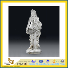 White Marble Nude Female Stone Carving Sculpture Statues for Museum(YQG-LS1011)