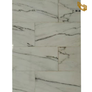 New Product Rectangle with Lines Pattern Marble Stone Calacatta White Mosaic