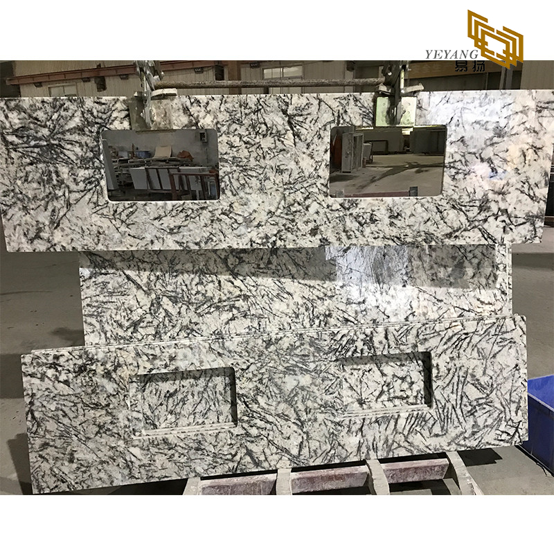 Ice blue/grey granite countertops stone kitchen vanity tops with big discount