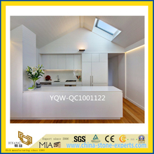 White / Beige Quartz Stone Countertop for Bathroom/ Kitchen / Hotel