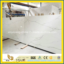 Calacatta White Quartz Stone Slab for Worktop or Countertop