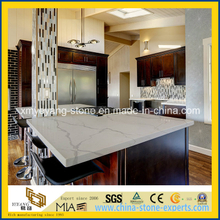 Prefab Calacatta White Quartz Kitchen Countertop or Worktop