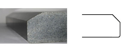 008 Countertop Edge Profile--- Bevel Edge