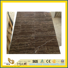 Natural Polished Coffee Brown Marble Tile for Wall/Flooring (YQC)