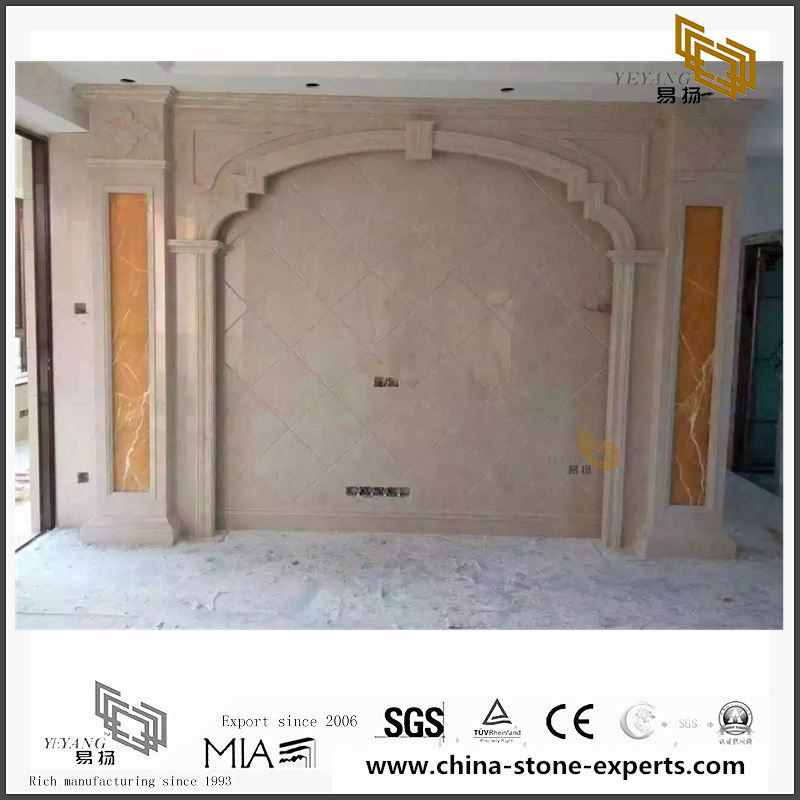 Quality Light Pink Marble Background for Bathroom Design (YQW-MB0726026)