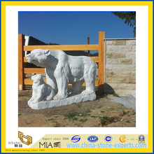Animal (Bear) Stone Carving & Granite Marble Sculpture (YQA)