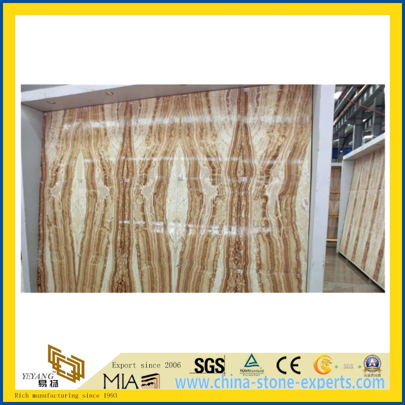 China Low Price Yellow Onyx Slab for Walling, Flooring (YQW-OS1003)