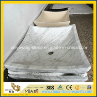 Bianco Carrara Marble Square Basin for Hotel Bathoom