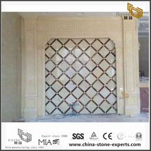 China White Marble Backgrounds for Bathroom Design (YQW-MB0726018)