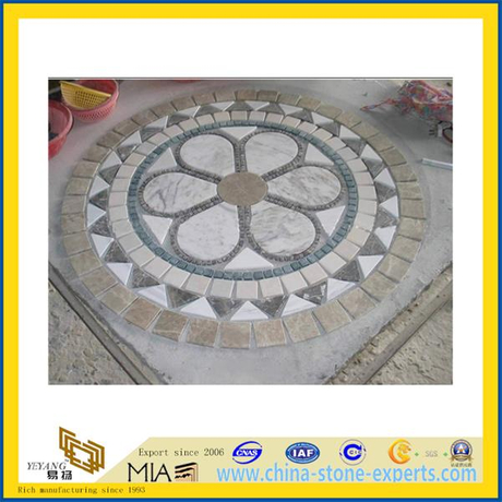 Design Marble Tile Mosaic Stone Medallion for Indoor Decoration