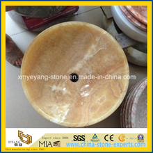 Yellow Honey Onyx Washbasin for Bathroom Decoration