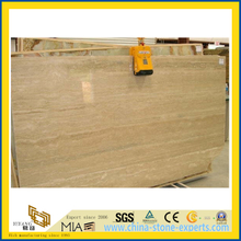 Polished Turkish Beige Travertine Slab for Flooring & Wall Clading